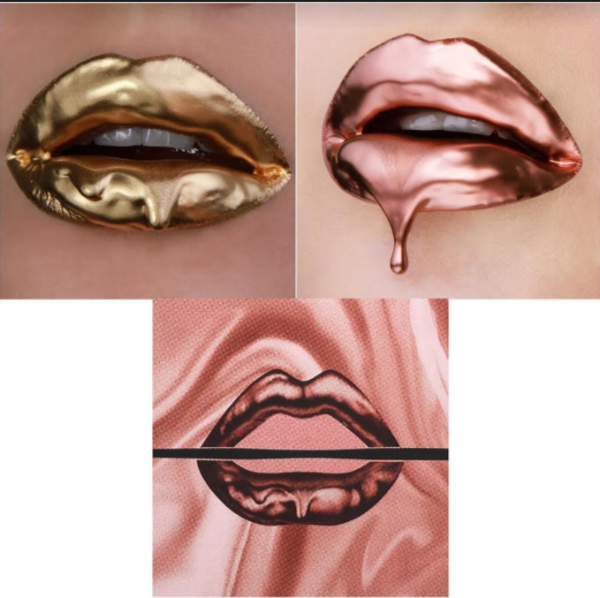 Vlada Haggerty's work (above) & Make Up For Ever's logo (below)
