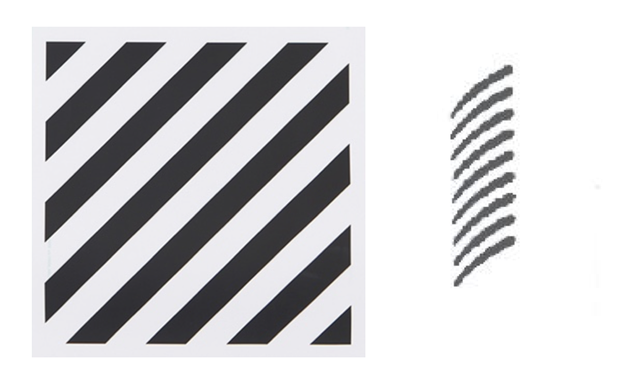 Off-White's trademark (left) & Paige's trademark (right)