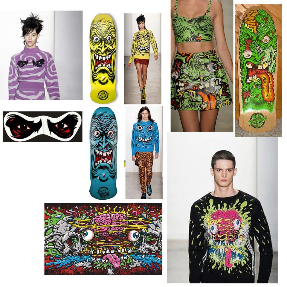 Looks from Jeremy's Scott's F/W13 collection & Jimbo Phillips' work