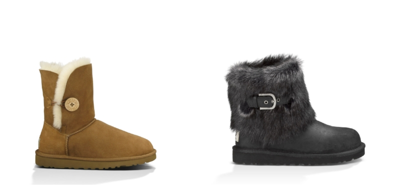 Ugg's Bailey Button boot (left) & Ugg's Ellee boot (right)